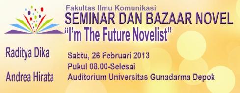 contoh spanduk seminar dan bazar novel